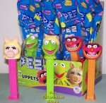 Disney Muppets Pez Set - Miss Piggy, Kermit and Animal MIB