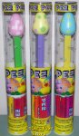Pink Yellow and Blue Easter Egg Pez Set of 3 Mint in Tubes
