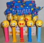 Pez Emojis set of 5 - Kissing, LOL, Silly, Happy and Love MIB