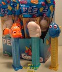 Finding Dory Nemo and Bailey Pez set with Colored Clear Stems