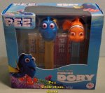 Finding Dory Pez Twin Pack Nemo and Dory on Clear Colored Stems
