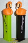 LOOSE Ltd. Ed Green and Black Stem Orange Flamingo Pez Pair