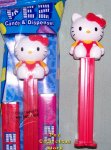 Hello Kitty with Red Bow and Overalls Full Body Pez