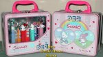 Hello Kitty Crystal Set of 4 Pez in Lunchbox Gift Tin