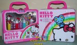 2010 Crystal Hello Kitty Pez Rainbow Lunchbox Gift Tin