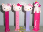 2018 European Hello Kitty Unicorn Pez Set of 4 Loose