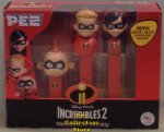 Incredibles 2 Pez Tripack with Violet, Dash and mini Jack Jack