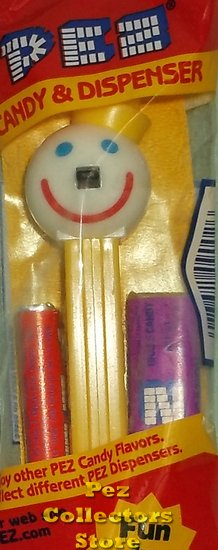 Yellow Stem Jack In The Box Promo Pez MIB - Click Image to Close