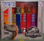 Jurassic World Pez Twin Pack with T-Rex and Blue the Raptor