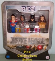 Justice League Pez Gift Tin with Exclusive Cyborg