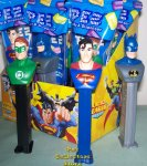 Superman, Batman and Green Lantern Justice League Pez Set of 3 M