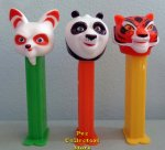European Kung Fu Panda 3 Pez Set of 3 Loose Po Tigress and Shifu