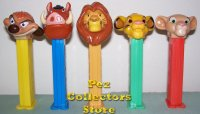 Lion King Pez Set of 5 Loose