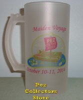 2014 POTR Maiden Voyage Logo Frosted Glass Beer Mug