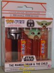 Star Wars Mandalorian and Child Baby Yoda Funko POP!+PEZ Pair