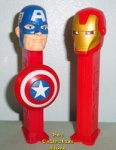 Avengers Interactive Pez Iron Man and Captain America Loose