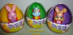 Mini Easter Pez Floppy Ear Bunny, Ducky Purple Mr. Bunny In Eggs