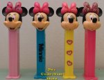 2014 Minnie Bowtique Pez Set of 4 European Pez