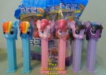 My Little Pony Glitter Crystal and Solid Set of 6 Pez MIB