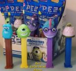 Monsters University Pez Mike, Sulley, Randall and Squishy MIB
