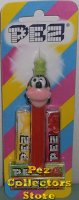 Multipiece Goofy Pez on Red Stem on Euro Striped Halo Card