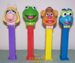 Muppets Series 2 Pez Set Kermit zigzag, Large Miss Piggy Loose