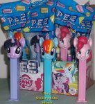 My Little Pony Twilight Sparkle Rainbow Dash Pinkie Pie Pez MIB