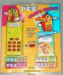 Neon Yellow Electronic Pez Telephone and Phone Registry!