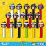 16 NFL Football Team Beanies Bundle POP!+PEZ