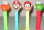 Original Nintendo Mario Bros. Pez Set of 4 Loose