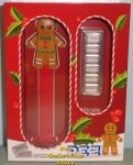 PAMP Suisse Gingerbread Man PEZ w 30gm Silver Candies with COA