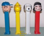 Peanuts Pez Series 1 set of 4 Loose