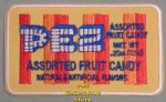 PEZ Assorted Fruit Candy Wrapper Iron On Patch