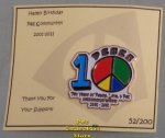 2011 Happy Birthday Pez Community 10 Year pin