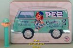 PEZ VW Delivery Tin with Aqua Pez Pal Boy and 42 rolls Pez Candy
