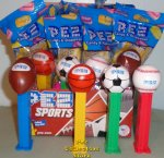 Sports Baseball Football Basketball Soccer with Pez Logo