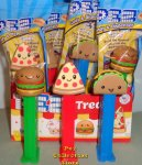 Pez Treats Cheeseburger, Pizza and Taco Pez set MIB