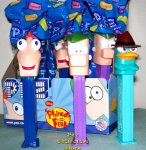 Phineas and Ferb plus Perry Pez Set MIB