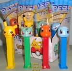 Pokemon Pez Pikachu, Bulbasaur, Charmander & Squirtle Set MIB