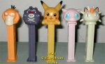 Original European Pokemon Pez Complete Set of 5 Loose