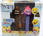 Brown Poop and Rainbow Poop Emojis Pez Twin Pack