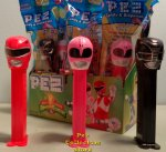 Mighty Morphin Power Ranger Pez Set of 3 Red, Black and Pink MIB