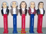 LOOSE USA Presidential Pez Series Volume 1 Set - 1789 to 1825