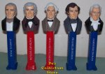 LOOSE USA Presidential Pez Series Volume 3 Set - 1845 to 1861