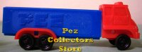 D Series Truck R3 Red Cab on Blue Trailer Pez