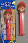 2018 Red and Green Elf Christmas Pez MIB