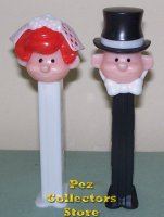 Redhead Bride and Groom Pez Couple Pez Pals Loose