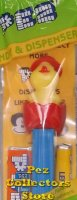 Pez Chick in Egg D in Red Wavy Shell MIB