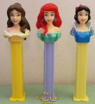 Revised Disney Princess Ariel, Belle and Snow White European Pez