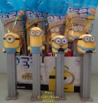 Minions Rise of Gru Pez Set Stuart, Kevin, Bob, and Otto MIB